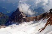 Marmolada lift, italian mountain landscape, Dolomiti — Stock Photo