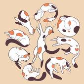 Lazy cats — Stock Vector