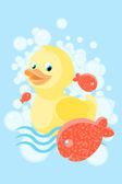 Rubber ducky — Stock Vector