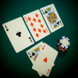 Texas Hold Flop Angled View — Stock Photo #6157287