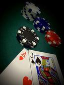 Spotlight A Blackjack — Stock Photo
