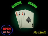 Four Aces In The Poker Room — Stock Photo