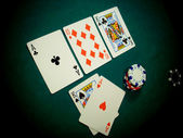 Texas Hold Flop Angled View — Stock Photo