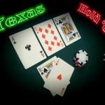 Neon Texas Hold Em — Stock Photo