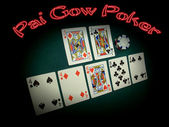 Pai Gow Poker Neon — Stock Photo