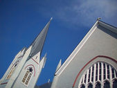 St Joseph's Catholic Church Spire - North Sydney Nova Scotia — Stock Photo