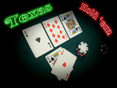 Neon Texas Hold Em — Stock Photo
