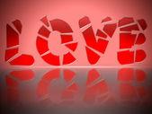 Shattered Love — Stock Photo