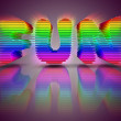 Foto Stock: Word Fun 3D Multi Colored Letters