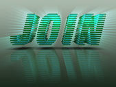 Word Join 3D Green Letters — Stock Photo