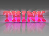 Word Think Red Pink 3D Letters — Stock Photo
