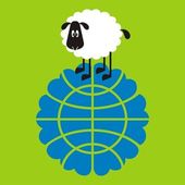 Sheep, good and different # 01 — Stock Vector