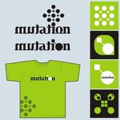 Mutation - a set of style elements — Stock Vector