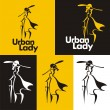 Royalty-Free Stock Vectorielle: Urban lady # 02