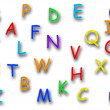 Stock Photo: Colorful alphabet on white