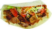 Kebab Fladenbrot — Stock Photo