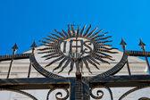 Catholic symbol IHS — Stock Photo