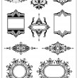 Stock Vector: Ornamental border frame collection