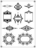 Ornamental border frame collection — Stock Vector
