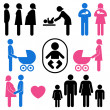 Royalty-Free Stock Vector Image: Family and baby icon set