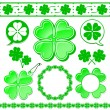 Shamrock design elements collection — Stock Vector