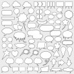 Huge cartoon speech bubble set — Stock Vector