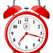 Red retro alarm clock — Stockvector #6349726