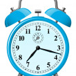 Blue retro alarm clock — Stockvector #6349895