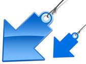 Glossy arrow tag — Stock Vector