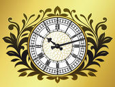Big ben clock with wreath — Vector de stock