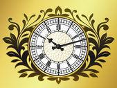 Big ben clock with wreath — Stock Vector