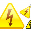 High voltage icon collection - Stock Vector