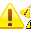 Caution icon collection - Stock Vector