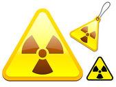 Collezione di icone tag radioattivo — Vettoriale Stock