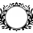 Ornamental wreath with blank sign - Stock Vector