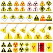Huge danger symbol icon collection - Stock Vector