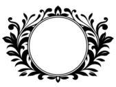 Ornamental wreath with blank sign — Stock Vector