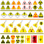 Huge danger symbol icon collection — Stock Vector