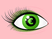 Eye euro — Stock Vector