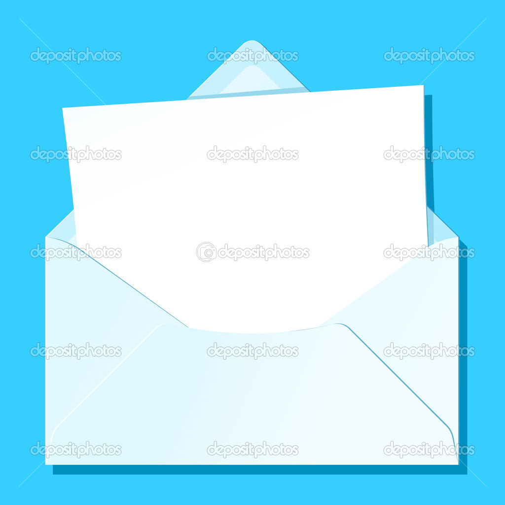 Blank letter in envelope — Stock Vector © a__n #6474939