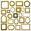 Collection of golden vintage picture frames — Stock Vector #6494516