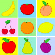 Stock Vector: Fruits doodle