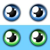 Shiny cartoon eye collection — Stock Vector