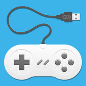 Retro controller with usb cable — Stock Vector
