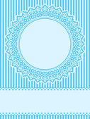 Blue lace design element greeting card — Stock Vector