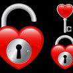Heart locket and key — Stock Vector