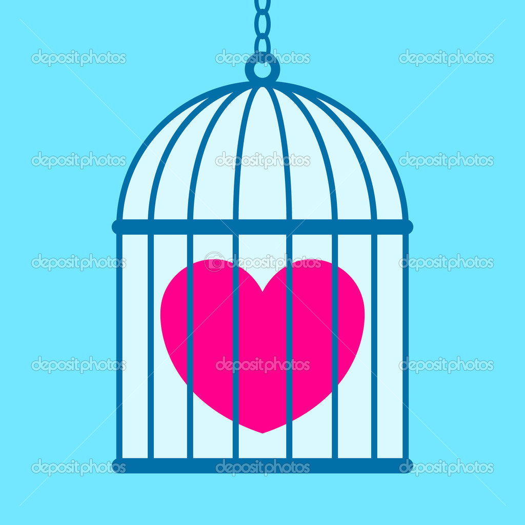 Heart in cage  — Stock Vector #6550635