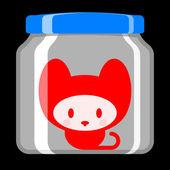 Cute kitten in preserving jar — Stok Vektör