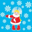 Royalty-Free Stock Vector Image: Snow Maiden on a blue background