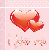 Vector card with hearts — Stock Vector